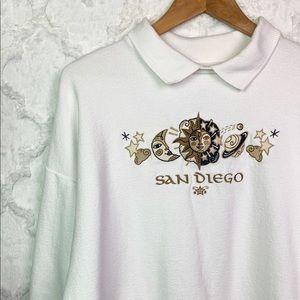 Vintage San Diego Sun Moon Celestial Sweatshirt
